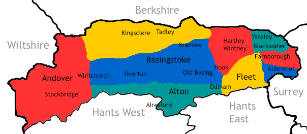 Hampshire North map