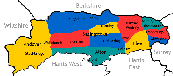 map of north hampshire Areas We Cover map of north hampshire